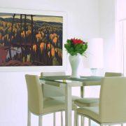 Algoma Country - Lawren Harris - 1947 - Simple white wooden frame